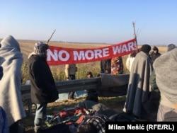 Переселенцы на границе Сербии и Хорватии