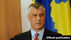 Претседателот на Косово, Хашим Тачи
