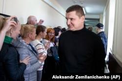 Родственники украинских моряков в зале суда в Москве. Апрель 2019 года