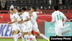 من مباراة العراق وايران في بطولة أمم آسيا في الدوحة