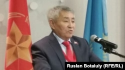 Тургун Сыздыков, лидер Коммунистической народной партии Казахстана. Астана, 4 марта 2015 года.