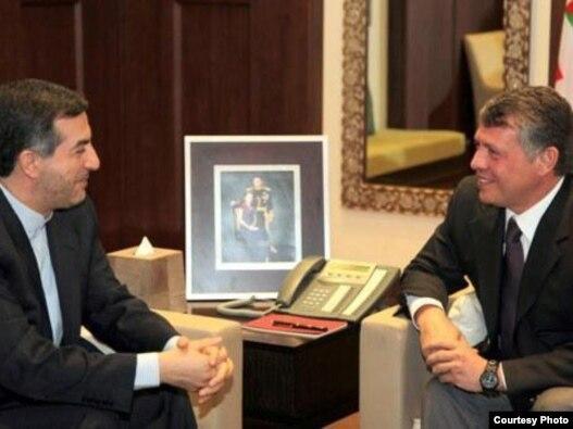 ملک عبدالله و  اسفندیار رحیم مشایی در اردن
