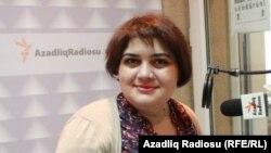 Журналист-расследователь Хадиджа Исмайлова в студии РадиоАзадлыг, 2014