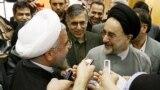 دیدار محمد خاتمی با حسن روحانی پس از پیروزی او در انتخابات