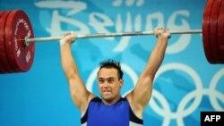 Илья Ильиннің Пекин олимпиадасының чемпионы болған сәті. Пекин, 17 тамыз 2008 жыл.