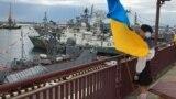 Во время празднования Дня военно-морских сил Украины. Одесса, 2 июля 2017 года