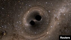Двойная система черных дыр