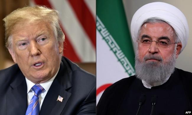 U.S. President Donald Trump (left) and Iranian President Hassan Rohani (combination file photo)
