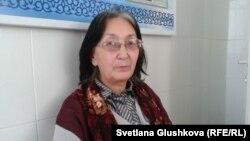 Балхашский адвокат Зинаида Мухортова. Астана, 1 ноября 2013 года.