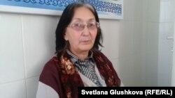 З.Мухортова Астанадагы ооруканадан чыккан учурда, 1-ноябрь, 2013