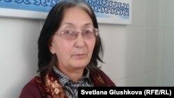 Балқаштық адвокат Зинаида Мухортова. Астана, 1 қараша 2013 жыл.