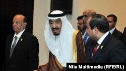ملك السعودية سلمان بن عبد العزيز، القاهرة، 28 آذار 2015