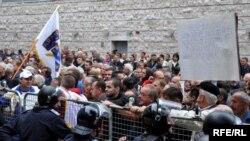 Sa jednog od protesta ratnih veterana u Federaciji BiH proteklih godina.