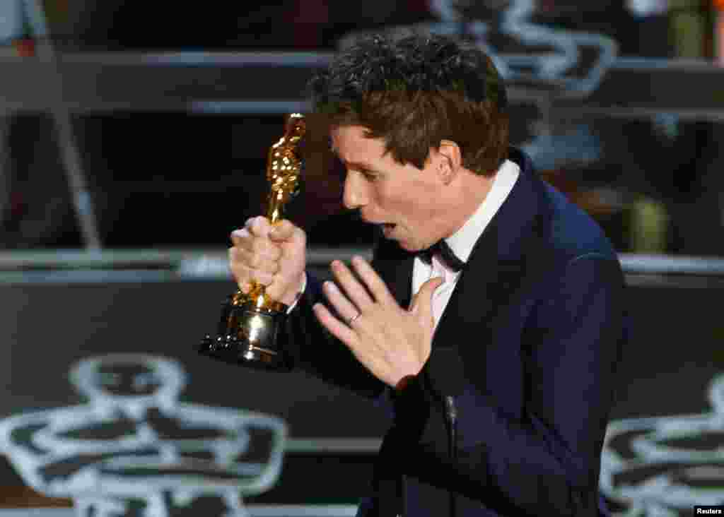 Best Actor went to Eddie Redmayne, for his role as physicist Stephen Hawking in The Theory of Everything.