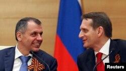 Sergei Naryshkin və Vladimir Konstantinov