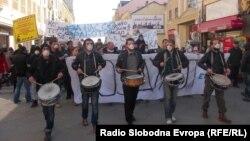 Архивска фотографија - Протест против загадувањето во Битола.