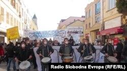 Протест против загадувањето во Битола. загаден воздух, јануари 2015.