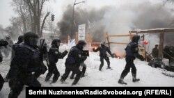Силовики біля наметового містечка під Верховною Радою, Київ, 3 березня 2018 року