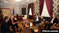 Zvaničnici Srbije i RS u Banjaluci 26. decembra 2012.