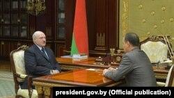 Аляксандар Лукашэнка і Раман Галоўчанка, 3 чэрвеня 2020 году
