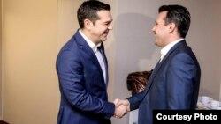 Kryeministri i Greqisë, Alexis Tsipras dhe ai i Maqedonisë, Zoran Zaev