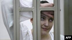 Надежда Савченко в суде. 29 сентября 2015 года.
