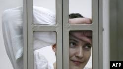 Украинская военнослужащая Надежда Савченко. Донецк, 29 сентября 2015 года.