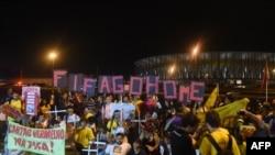 Демонстрация в Бразилии против проведения чемпионата мира по футболу, 15 мая 2014
