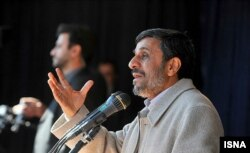 Ahmadinejad speaks during a trip to Iran's West Azerbaijan Province on May 5.