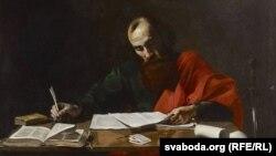 Валянтэн дэ Булёнь, «Сьвяты Апостал Павал піша свае пасланьні», 1620.