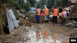 Последствия шторма в столице Македонии Скопье.