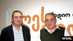 თენგიზ ფხალაძე (მარცხნივ) და ალექსანდრე რუსეცკი