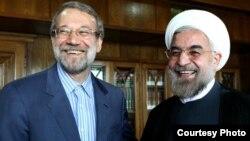 علی لاریجانی روز یکشنبه در دیدار با حسن روحانی درباره مشکلات اقتصادی گفتو گو کرد. منبع عکس:خبرگزاری خانه ملت