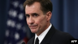 "Rear Admiral John Kirby says Washington believes the loss of the Islamic State leaders seriously ""degrades"" the ability of Islamic State."