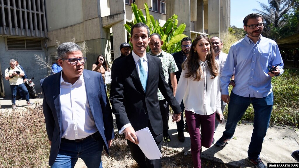 Хуан Гуайдо с супругой Фабианой Розалес