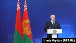 Аляксандар Лукашэнка выступае на форуме «Менскі дыялёг»