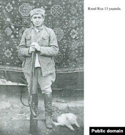Rəsul Rza 13 yaşında