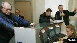 Miqrant işçilərə məşğulluq kartları verilir, Moskva, 15 yanvar 2007