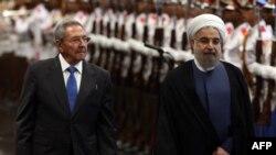 حسن روحانی رئیس جمهوری ایران و رائول کاستر رئیس جمهوری کوبا در هاوانا
