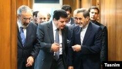 علی اکبر ولایتی در کنار سفیر سوریه در تهران
