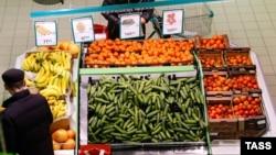 Овощной отдел супермаркета в Калининграде