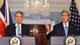 وزيرا الخارجية الاميركي جون كيري والبريطاني فيليب هاموند