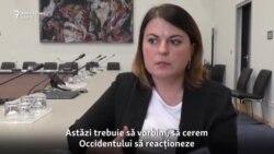 """Natalia Radzina: """"Trebuie introduse sancțiuni dacă sunt omorâți jurnaliști"""""""
