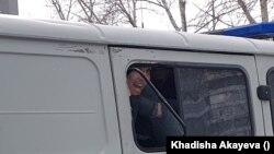 Задержания протестующих активистов в Семее. 28 февраля 2021 года.