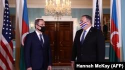 Переговоры Майкла Помпео с главой МИД Азербайджана Джейхуном Байрамовым