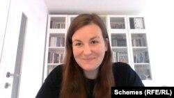 Карін Кьовари-Солимос – журналістка зі Словаччини, яка від цієї країни брала участь у великому проєкті «Угорські гроші: Вплив Орбана»