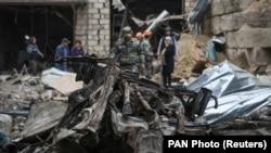 NAGORNO-KARABAKH -- Aftermath of recent shelling of Stepanakert, October 4, 2020