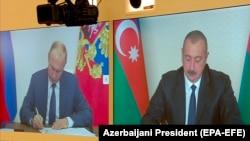 Ռուսաստանի և Ադրբեջանի նախագահները ստորագրում են 2020 թվականի նոյեմբերի 9-ի հայտարարությունը