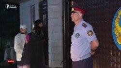 Ұсталғандардың жақындары полиция бөлімшесіне барды