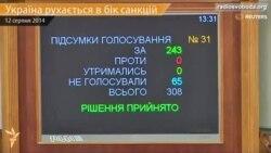 Парламент ухвалив в першому читанні законопроект про санкції